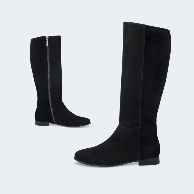 The Bedford, in black suede