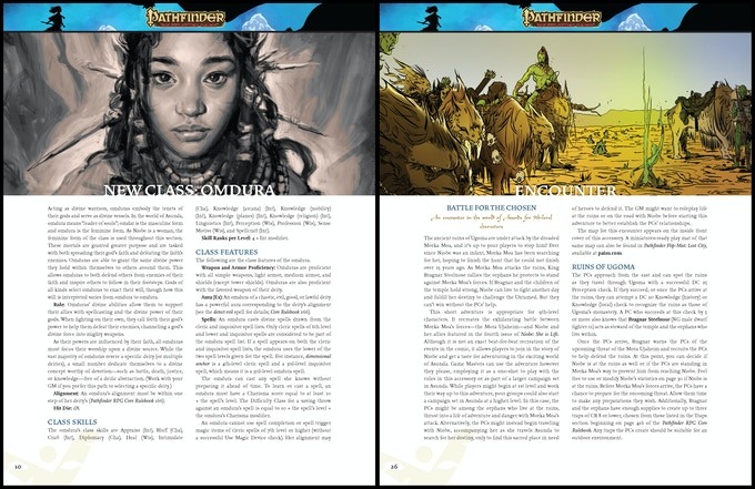 Sample Pages from Niobe Pathfinder