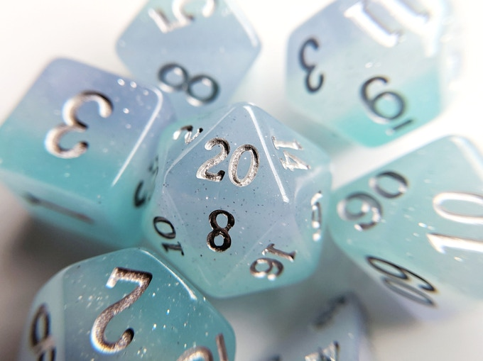 Air Elemental Resin Dice