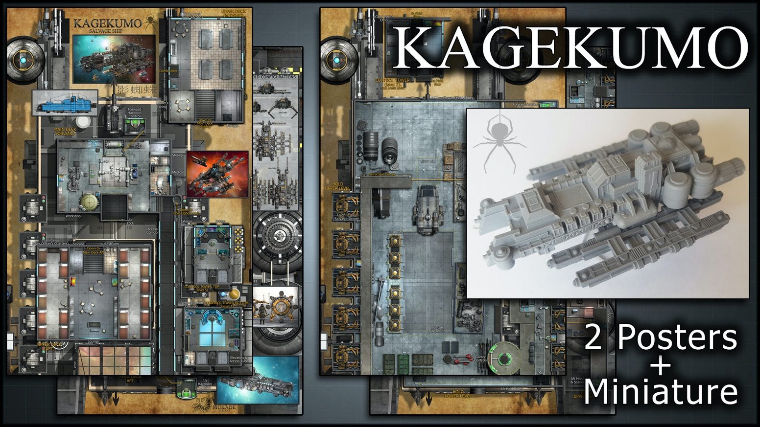 Kagekumo: Starship Maps & Miniature by Ryan Wolfe — Kickstarter