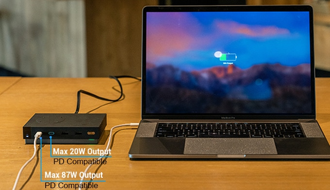 Charging MacBook Pro with ZeroLemon Station