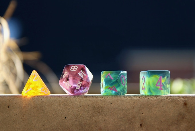 Test dice - pic by SSPT member Tina