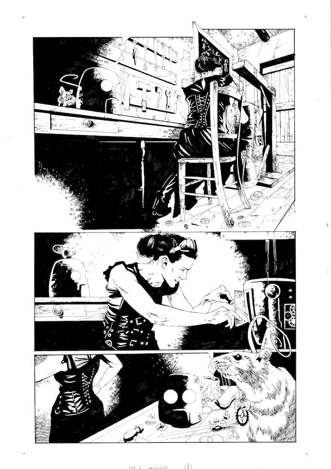 Original Art Page 4 - Adam Jakes - 'Issue #4 'Uncorked' Page 1