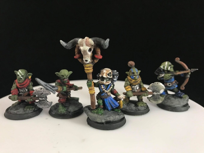 Goblins! Printed and Painted by Dillon Olney (Critical Crafting)