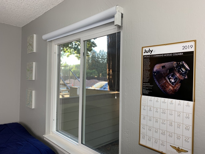 Outside mount allows you to mount your AutoShades above or next to the window frame.
