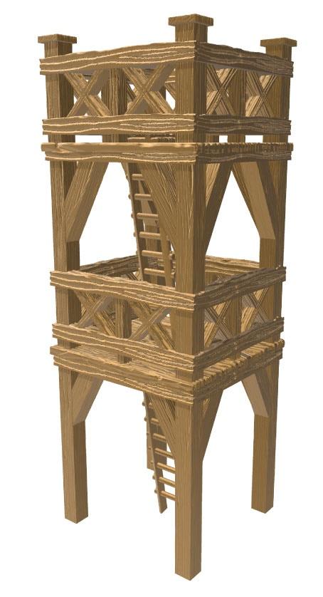 wooden roman tower