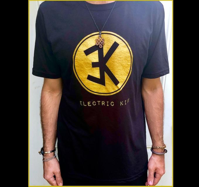 Kif shirt black and gold