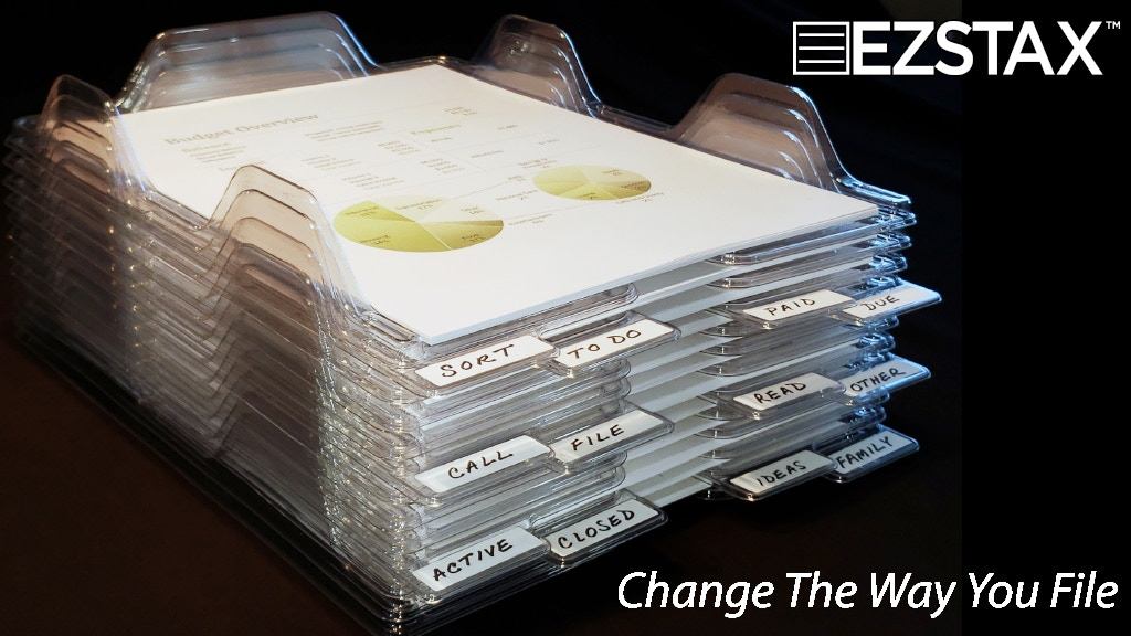 EZSTAX FILE ORGANIZERS | A NEW WAY TO SORT, FILE, AND STORE
