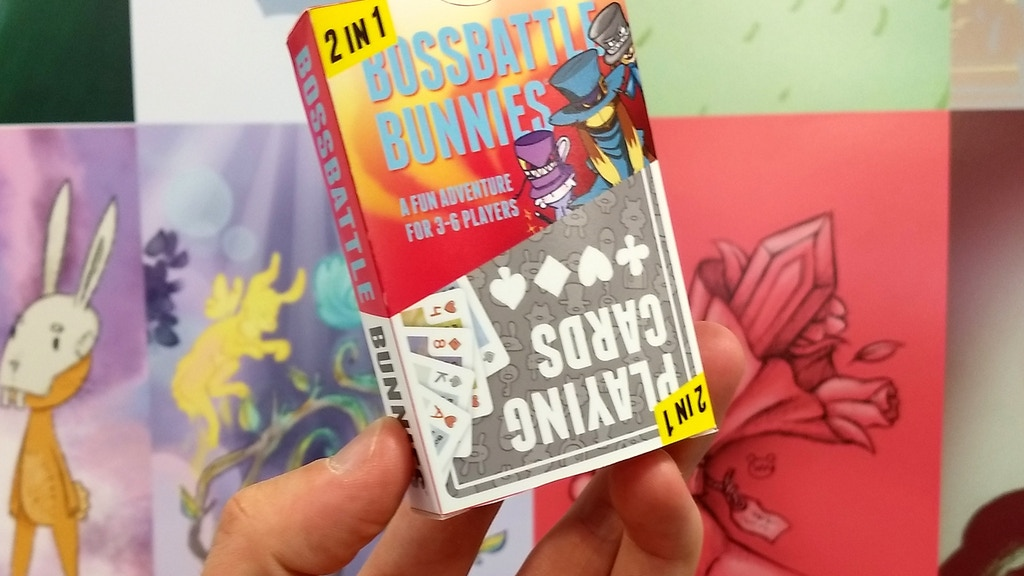 Bossbattle Bunnies: The illustrated 2in1 card game! project video thumbnail