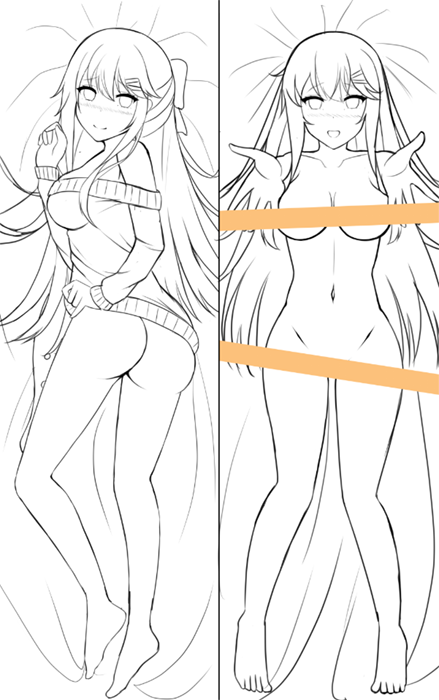 Dakimakura design for Hatsumi.