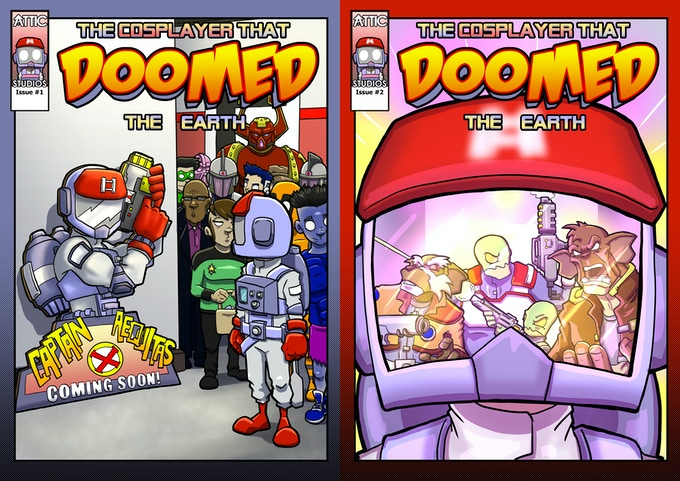 The covers for Issue 1 and 2 (Subject to change ever so slightly)