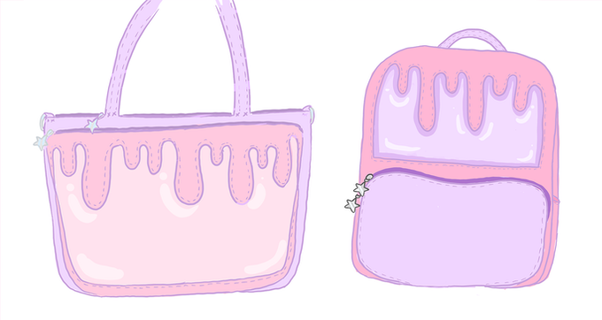pastel varients for the bags