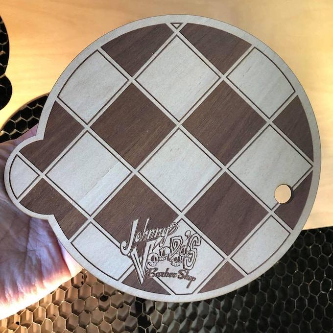 Laser Cut base made of treated Australian Blue Gum