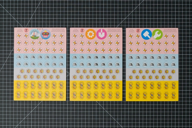 All three token sheets.