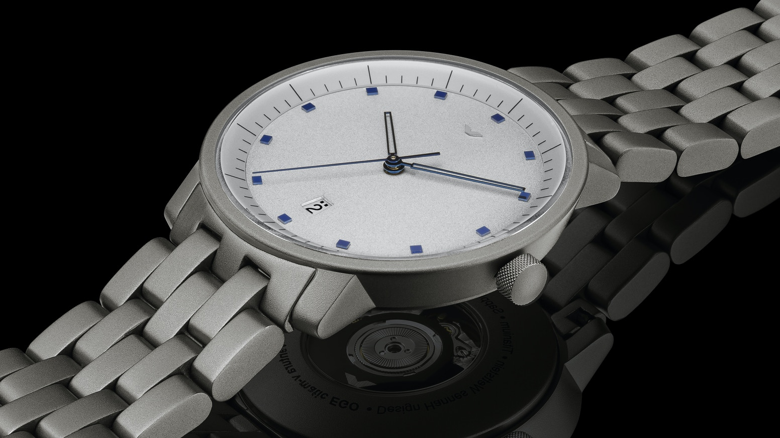 The return of a premium Swiss Made automatic watch, designed by Hannes Wettstein in 1994.