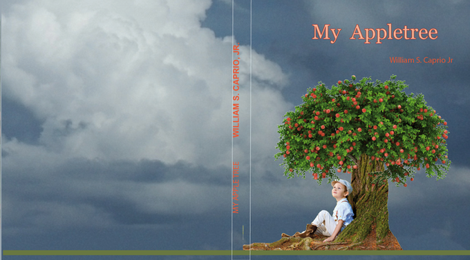Johnny (main character in book) sitting under his appletree