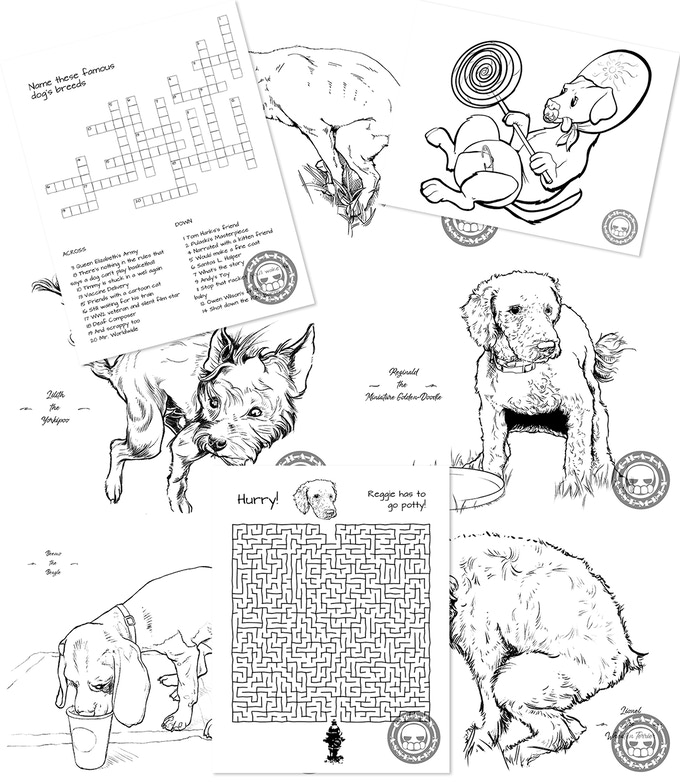 Poopin' Dogs: a Coloring and Activity Book