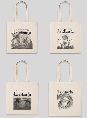 From upper left: Windmill bag, Chain Gang bag, Knight of the White Moon bag, and Knight of the Mirrors bag