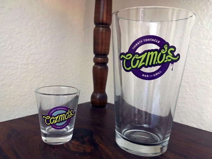 Cozmo's Shot Glass & Pint Glass