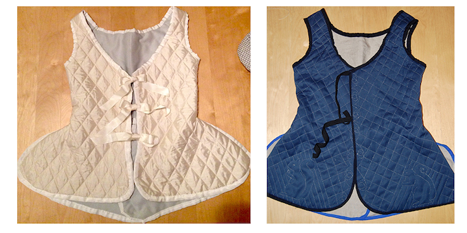 Pre-quilted Sillk and Hand-Quilted Wool Waistcoats