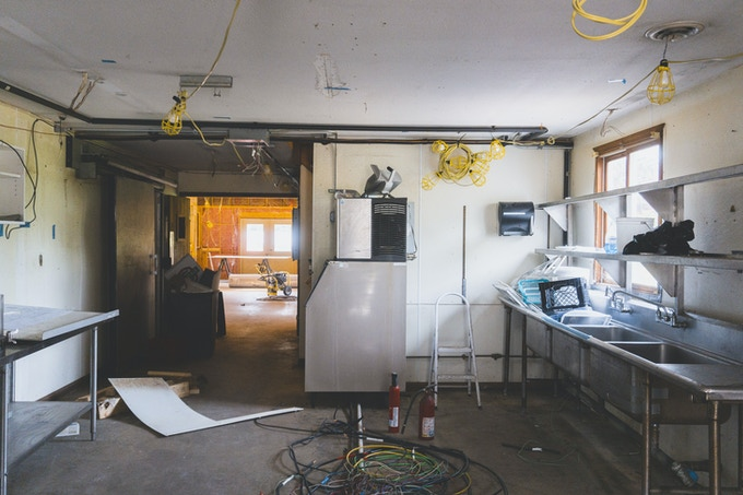 Our kitchen, the future home of Chef Dan and all the bread, bacon, and cheesy delights