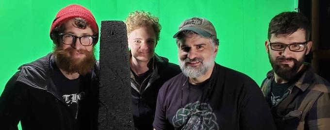 pictured: Woodruff Laputka (director), Tehben Dean (cinematographer), Andrew Migliore (writer/producer), Rob Taylor (art director & production designer).