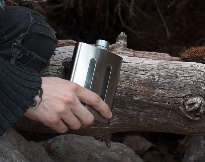 Dividere Flask | Dual Chambered Hip Flask by Dividere