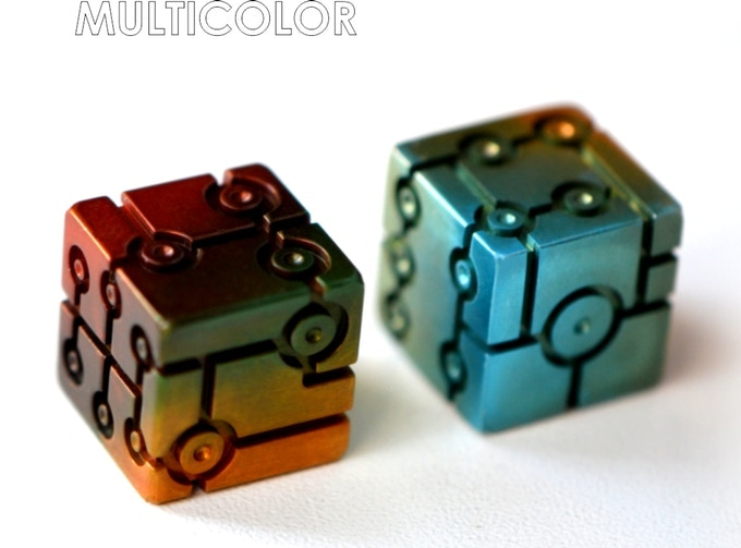 T-Dice (Tron) For the first time in the world, we made a multi-color anodizing aluminum Dice with a smooth transition of colors