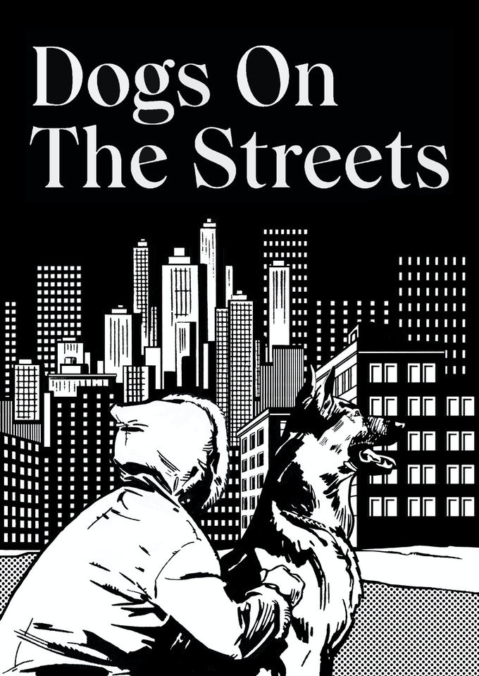 Dogs On The Streets limited edition postcard, illustrated by artist Will Henry