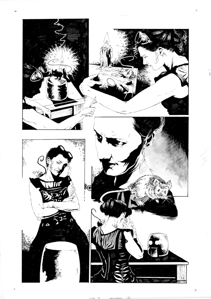 Original Art Page 6 - Adam Jakes - 'Issue #4 'Uncorked' Page 4
