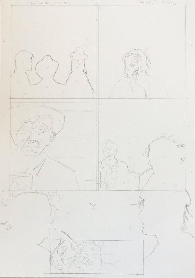 "Original Art Page 8 - Sam Bentley - ""The Devil's Fishing Hole' Page 2 - Cognition #0"