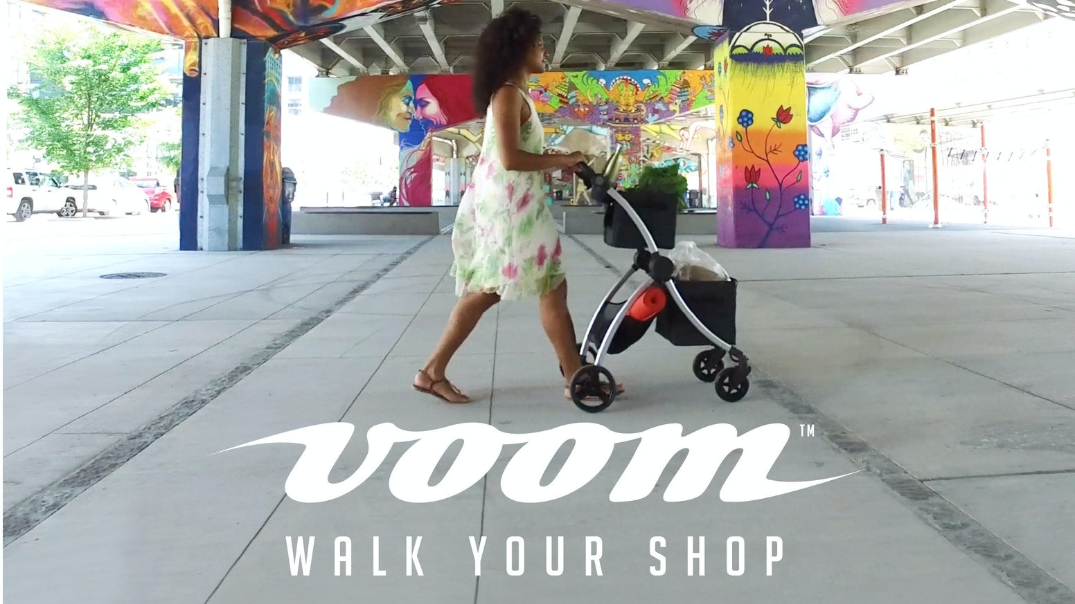 VOOMcart has been designed to make hauling up to 50 pounds around on foot easy, and hey - even fun!