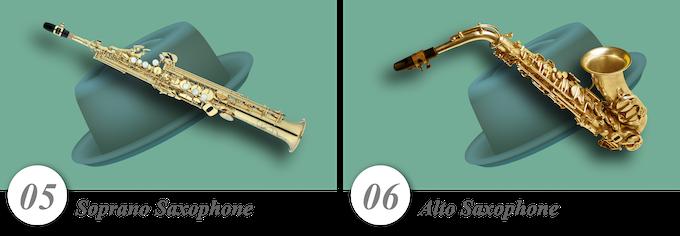 No. 05—Soprano Saxophone • No. 06—Alto Saxophone