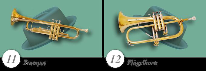 No. 11—Trumpet • No. 12—Flügelhorn