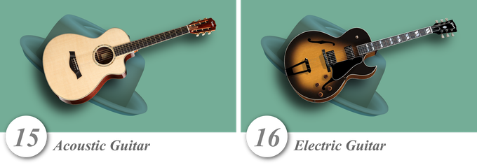 No. 15—Acoustic Guitar • No. 16—Electric Guitar