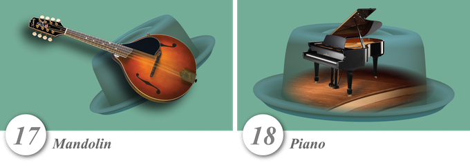 No. 17—Mandolin • No. 18—Piano