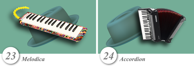 No. 23—Melodica • No. 24—Accordion