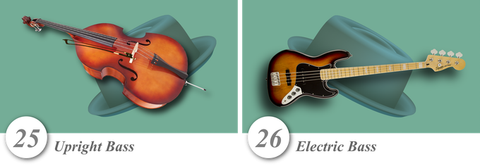 No. 25—Upright Bass • No. 26—Electric Bass