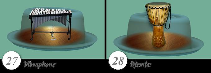 No. 27—Vibraphone • No. 28—Djembe