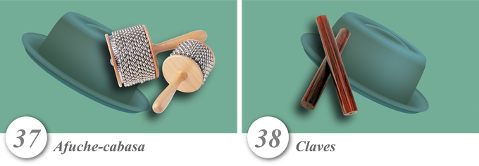 No. 37—Afuche-cabasa • No. 38—Claves