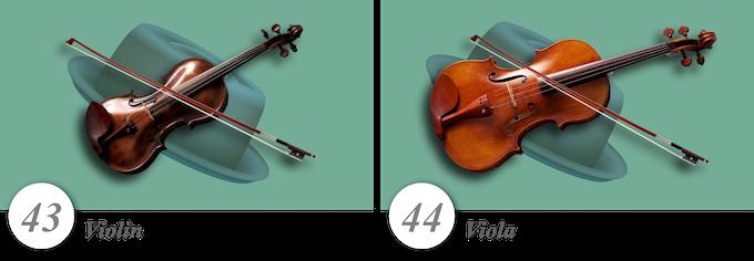 No. 43—Violin • No. 44—Viola