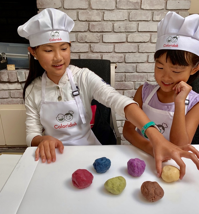 Coloridoh: playful /colorful allergy free cookie dough