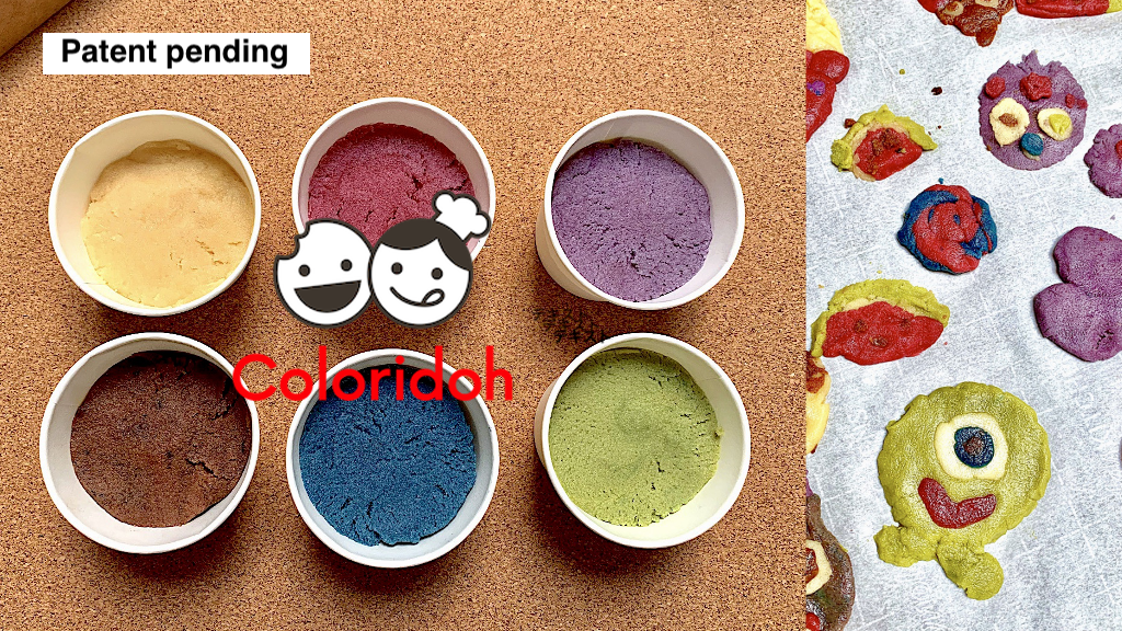 Coloridoh: playful /colorful allergy free cookie dough project video thumbnail