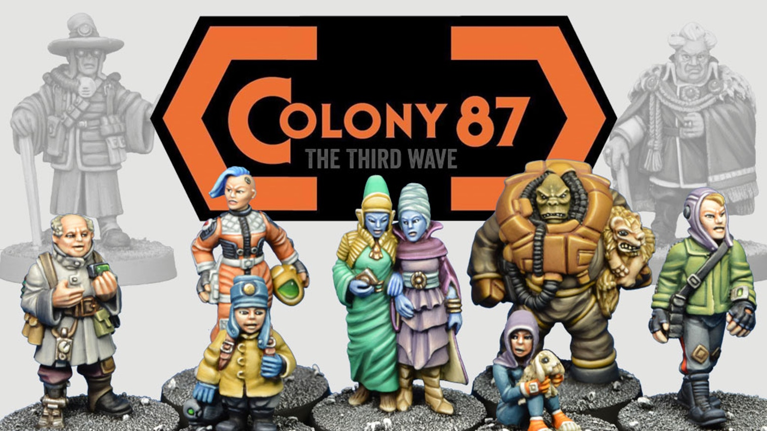 A third set of six 28mm Sci-Fi civilians designed for retro and modern sci-fi wargaming