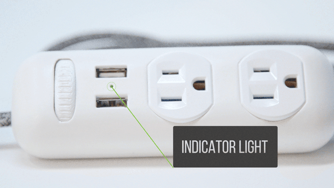 The indicator light lets you know when power has been enabled.