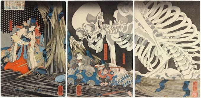 Takiyasha the Witch and the Skeleton Spectre, c.1844, Utagawa Kuniyoshi (1797–1861)