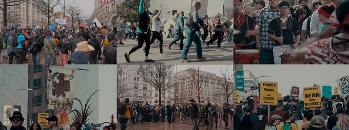 Stills from Ghost on the Water (Marches in L.A. and D.C.)