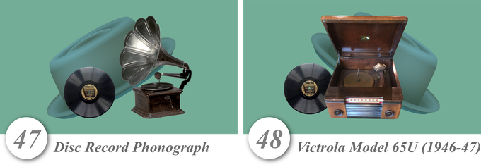No. 47—Disc Record Phonograph • No. 48—Victrola Model 65U (1946-47)