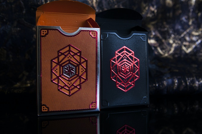 Walhalla Odin (orange/silver) & Freyja (black/red)