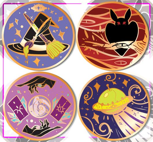 Spooky Scouts Hard Enamel Pins